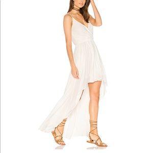 Show Me Your Mumu Molly Mullet White Challis Dress
